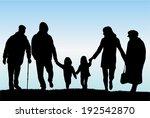 family silhouettes | Shutterstock .eps vector #192542870