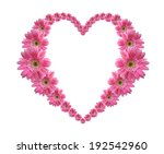 Heart Frame From Pink Flower...