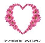 Heart Frame From Pink Flower...