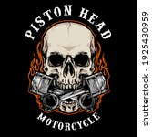 vector of skull biker badge...
