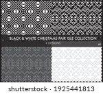 black and white christmas fair... | Shutterstock .eps vector #1925441813