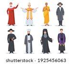 religion ministers set.... | Shutterstock .eps vector #1925456063