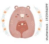 hand drawn illustration of mom... | Shutterstock .eps vector #1925456099