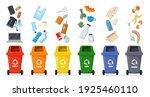 Garbage Sorting Set. Bins With...