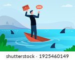 businessman going through... | Shutterstock .eps vector #1925460149