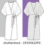 dress  fashion flat sketch ... | Shutterstock .eps vector #1925462393
