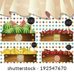 fruit store in wooden crates... | Shutterstock .eps vector #192547670