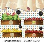 fruit store in wooden crates... | Shutterstock .eps vector #192547670