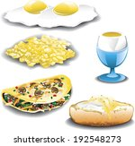 assorted egg dishes including... | Shutterstock .eps vector #192548273