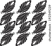 abstract pattern leaves and... | Shutterstock .eps vector #192549239
