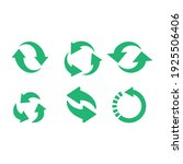 recycle icon vector set. best... | Shutterstock .eps vector #1925506406
