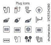 plug  socket  outlet color line ...   Shutterstock .eps vector #1925524280