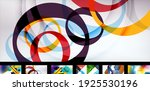 set of vector abstract... | Shutterstock .eps vector #1925530196