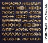 aztec vector elements. set of... | Shutterstock .eps vector #1925532539