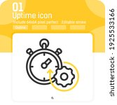 uptime icon with outline style...
