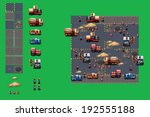 construction site   pixel art... | Shutterstock .eps vector #192555188