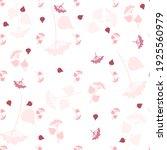 seamless simple pattern. pink... | Shutterstock . vector #1925560979