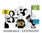 extinction rebellion. eco...   Shutterstock .eps vector #1925565350