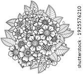 mehndi flower for henna  mehndi ... | Shutterstock .eps vector #1925576210