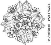 mehndi flower for henna  mehndi ... | Shutterstock .eps vector #1925576216