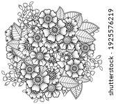 mehndi flower for henna  mehndi ... | Shutterstock .eps vector #1925576219