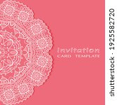 invitation or card template... | Shutterstock .eps vector #1925582720