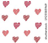 seamless romantic pattern with... | Shutterstock .eps vector #1925585969