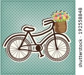 retro or vintage bicycle with a ... | Shutterstock . vector #192558848