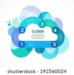 cloud computing concept vector...   Shutterstock .eps vector #192560024