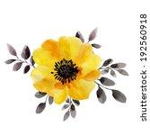Yellow Flower  Watercolor...