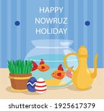 happy nowruz and green and... | Shutterstock .eps vector #1925617379