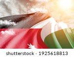 Jordan national flag cloth...