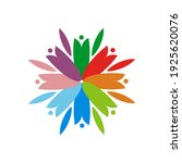 people flower logo design eps | Shutterstock .eps vector #1925620076