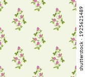 hand drawn red clover on a... | Shutterstock .eps vector #1925621489