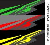 racing car wrap design vector | Shutterstock .eps vector #1925623250