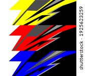 racing car wrap design vector | Shutterstock .eps vector #1925623259
