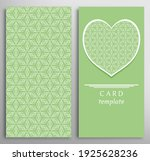 set of decorative cards with... | Shutterstock .eps vector #1925628236