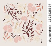 creative floral posters. square ... | Shutterstock .eps vector #1925628539