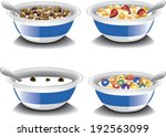 assorted bowls of cereal. | Shutterstock .eps vector #192563099