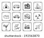 travel icons   Shutterstock .eps vector #192563870