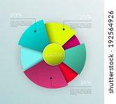 business pie chart  ... | Shutterstock .eps vector #192564926