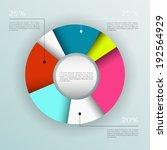 business pie chart  ... | Shutterstock .eps vector #192564929