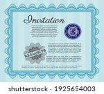 light blue vintage invitation.... | Shutterstock .eps vector #1925654003