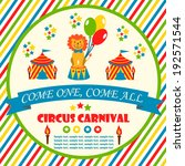 circus party card design for... | Shutterstock .eps vector #192571544