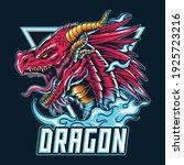 the dragon e sport logo or... | Shutterstock .eps vector #1925723216