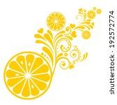 single cross section of lemon.... | Shutterstock .eps vector #192572774