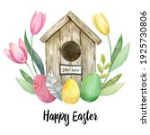 Happy Easter Card. Eggs  Spring ...