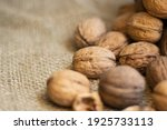 Nuts On A Wooden Board And On A ...