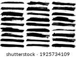 set of vector brush strokes.... | Shutterstock .eps vector #1925734109