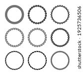 round curly frames. set of... | Shutterstock . vector #1925736506